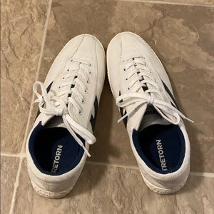 Tretorn Nylite Plus white and navy sneakers